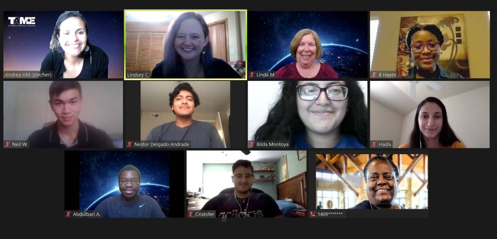 Eleven people on a Zoom call