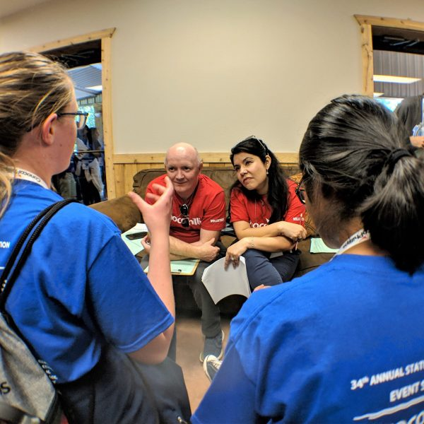 ConocoPhillips employees volunteer as Engineering Design Challenge Judges at the 2019 State STEM Competition.