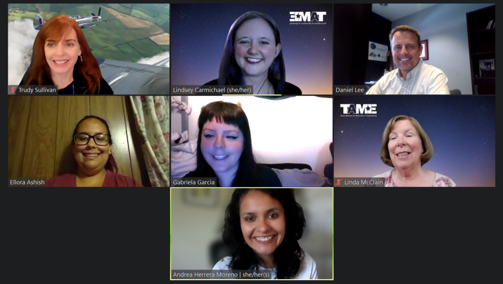 A screenshot of a Zoom call with 7 people visible.